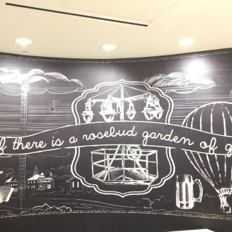 Mural in lobby of Hotel Indigo