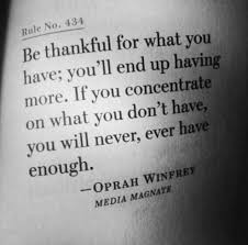 Thankful for What YouHave